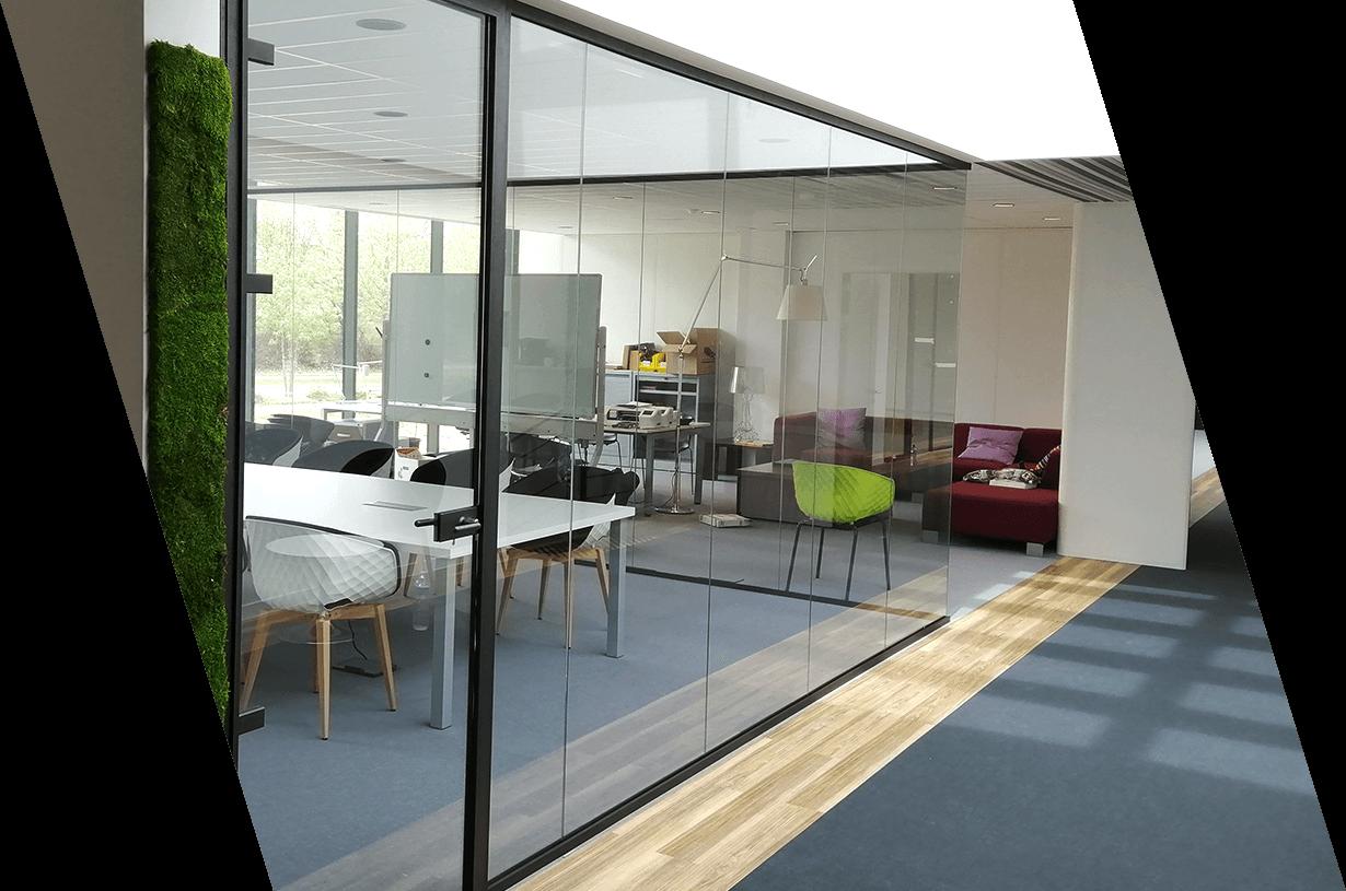 photo de cloisons vitrées